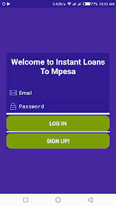 screenshot of Quick Mpesa Loans version 1.2.1