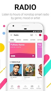 screenshot of Raaga Hindi Tamil Telugu songs and podcasts version Varies with device