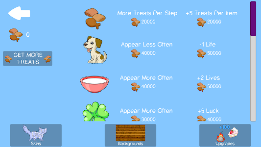 screenshot of Runny Cat version 0.2.2
