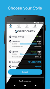 screenshot of Simple Speedcheck version 5.1.4.0
