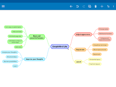 screenshot of SimpleMind Lite - Intuitive Mind Mapping version 1.26.0