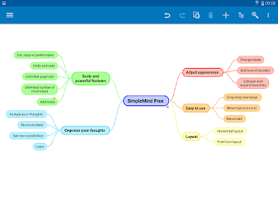 screenshot of SimpleMind Free - Intuitive Mind Mapping version 1.24.0