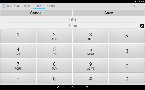 screenshot of Simply DTMF Tone Generator version 1.12