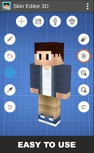 screenshot of Skin Editor 3D for Minecraft version 1.7