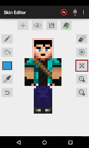 screenshot of Skin Editor for Minecraft version 2.2.9