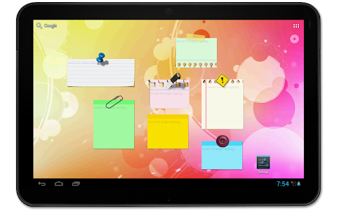 screenshot of Sticky Notes + Widget version Varies with device