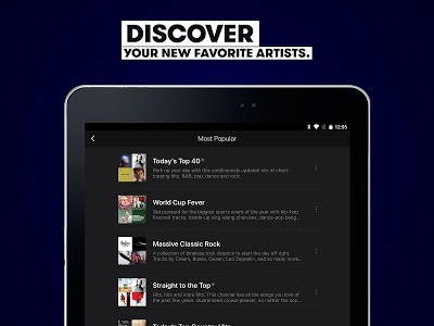 screenshot of Stingray Music - Curated Radio & Playlists version 8.5.4