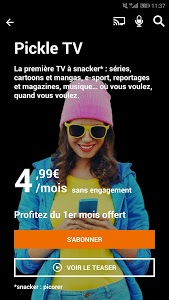 screenshot of TV d'Orange, live-replay-vod version Varies with device