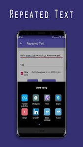 screenshot of Text Repeater for WhatsApp, Instagram and Facebook version 1.92