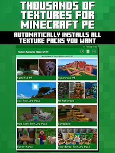 screenshot of Texture Packs for Minecraft PE version 1.05