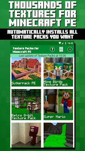 screenshot of Texture Packs for Minecraft PE version 2.08