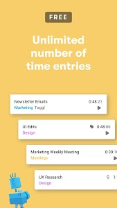 screenshot of Toggl: Time Tracker and Timesheet for Work Hours version 2.12