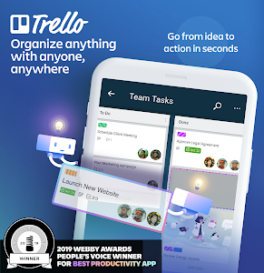 screenshot of Trello: Organize anything with anyone, anywhere! version Varies with device