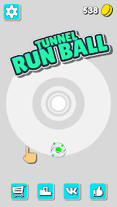 screenshot of Tunnel Run Ball. Tunnel with obstacles and ball version 0.0.2