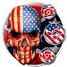 Usa Fire Skull Themes 3D Wallpapers