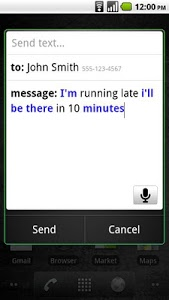 screenshot of Voice Search version 2.1.4