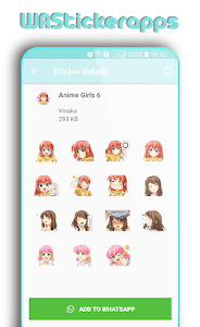 screenshot of WAStickerApps: Cute Anime Girls Stickers version 1.0