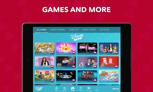 screenshot of DisneyNOW – TV Shows & Games version Varies with device