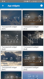 screenshot of Weather Live Pro version 1.8