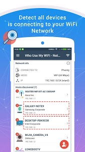 screenshot of Who Use My WiFi - Network Scanner version 1.6.0