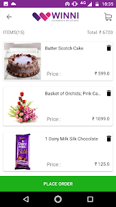 screenshot of Winni - Cake & flower delivery version 3.9.5.0