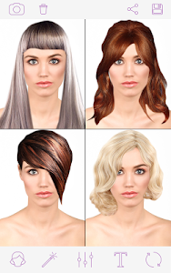 screenshot of Woman Hairstyles 2018 version 1.4.7