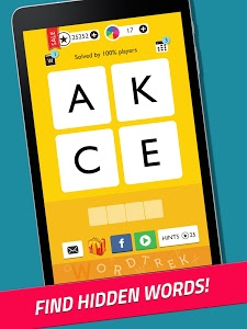 screenshot of Word Trek - Word Brain streak - hand made puzzles version 1.3.58
