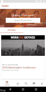 screenshot of Workmatters Conference version 3.1.8
