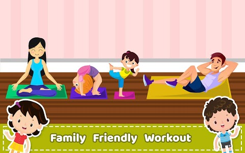 screenshot of Yoga for Kids and Family fitness - Easy Workout version Varies with device