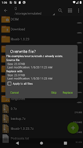 screenshot of ZArchiver version Varies with device