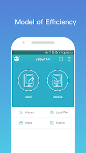 screenshot of Zapya Go - Free File Transfer & Sharing version 1.4