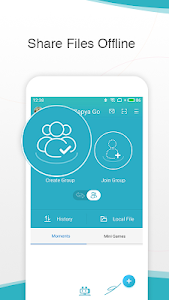 screenshot of Zapya Go - From File Transfer to Private Social version 1.6.1
