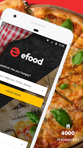 screenshot of efood delivery version 3.2.8