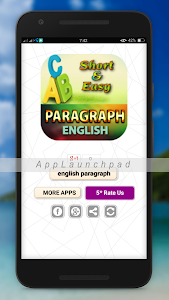 screenshot of easy english paragraph learning- details all version 3.0