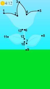 screenshot of how to draw flower game version 2.0