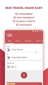 screenshot of redBus - Online Bus Ticket Booking version 9.0.0